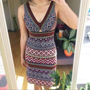 Anthropologie Black Print Dress